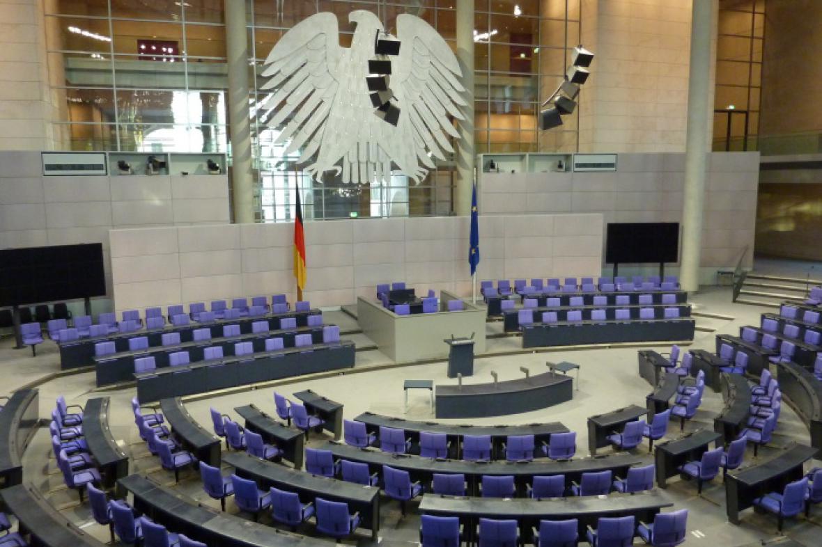 Jednací sál Bundestagu