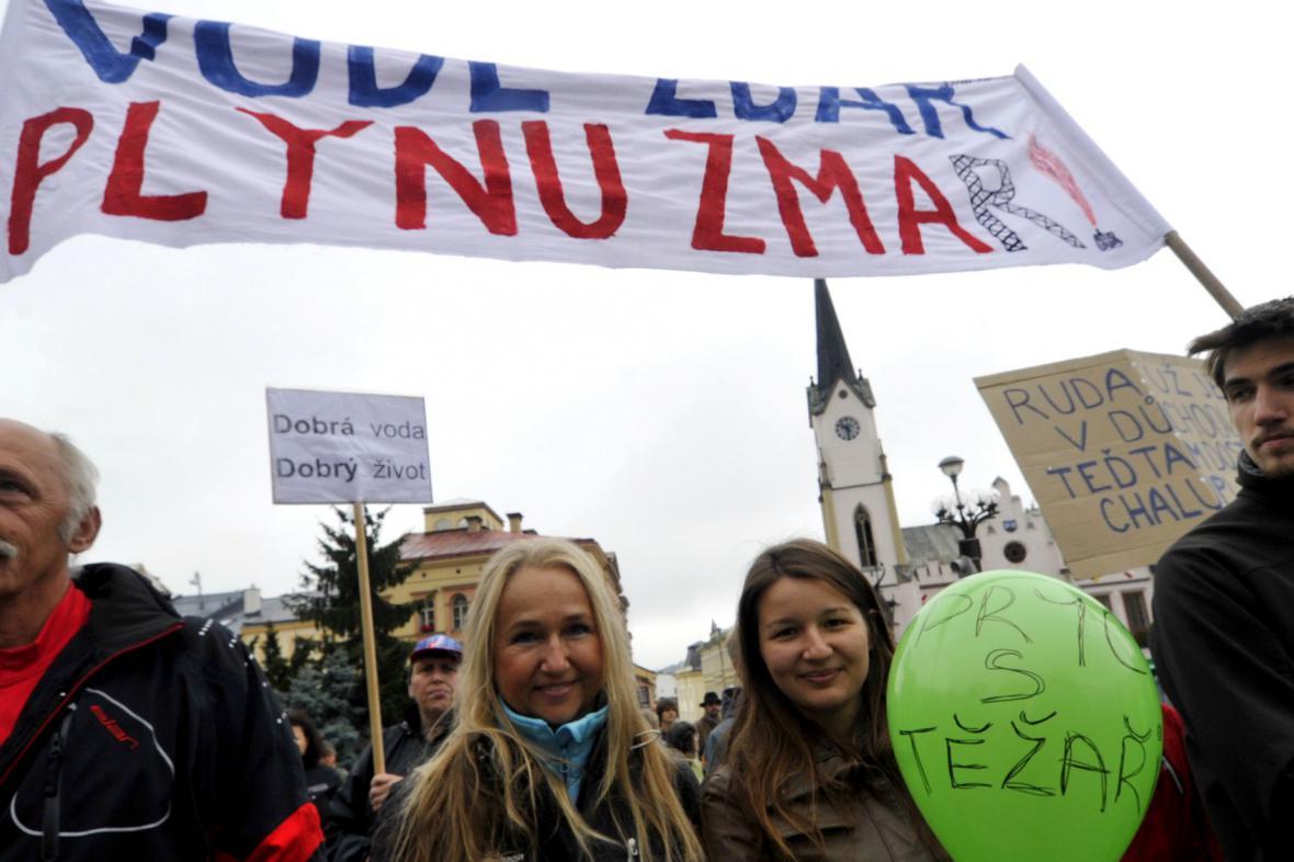 Protest proti břidlicovému plynu