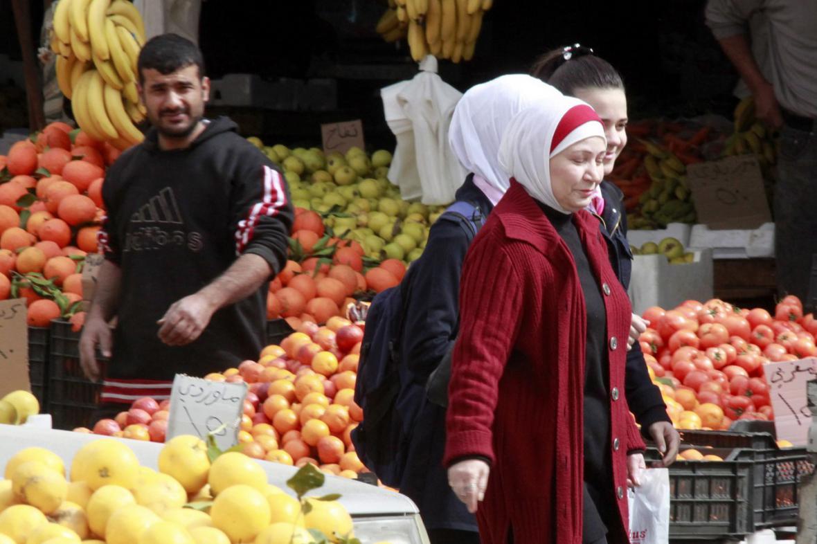 Trh v centru Damašku