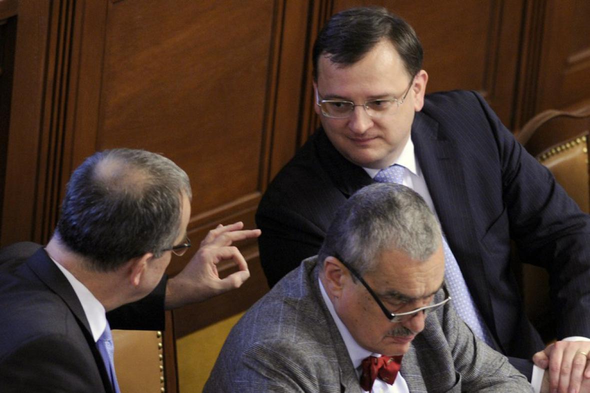 Petr Nečas, Karel Schwarzenberg a Miroslav Kalousek