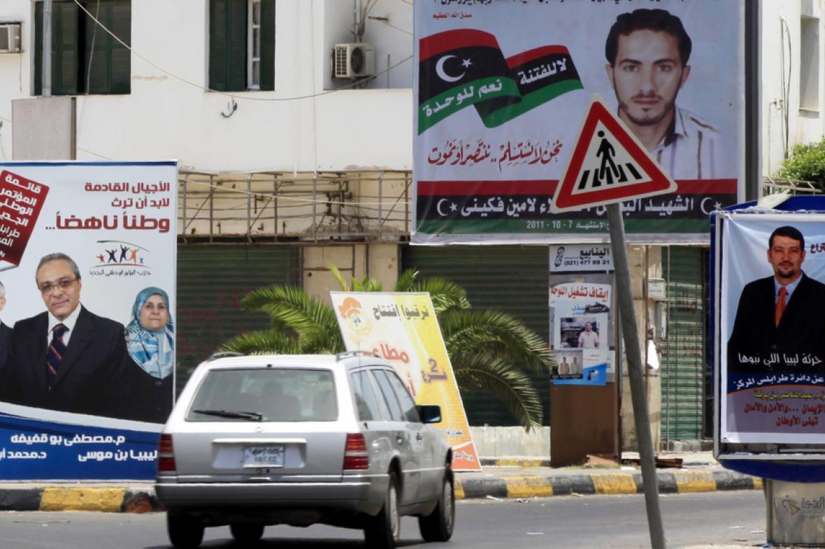 Předvolební kampaň v Libyii