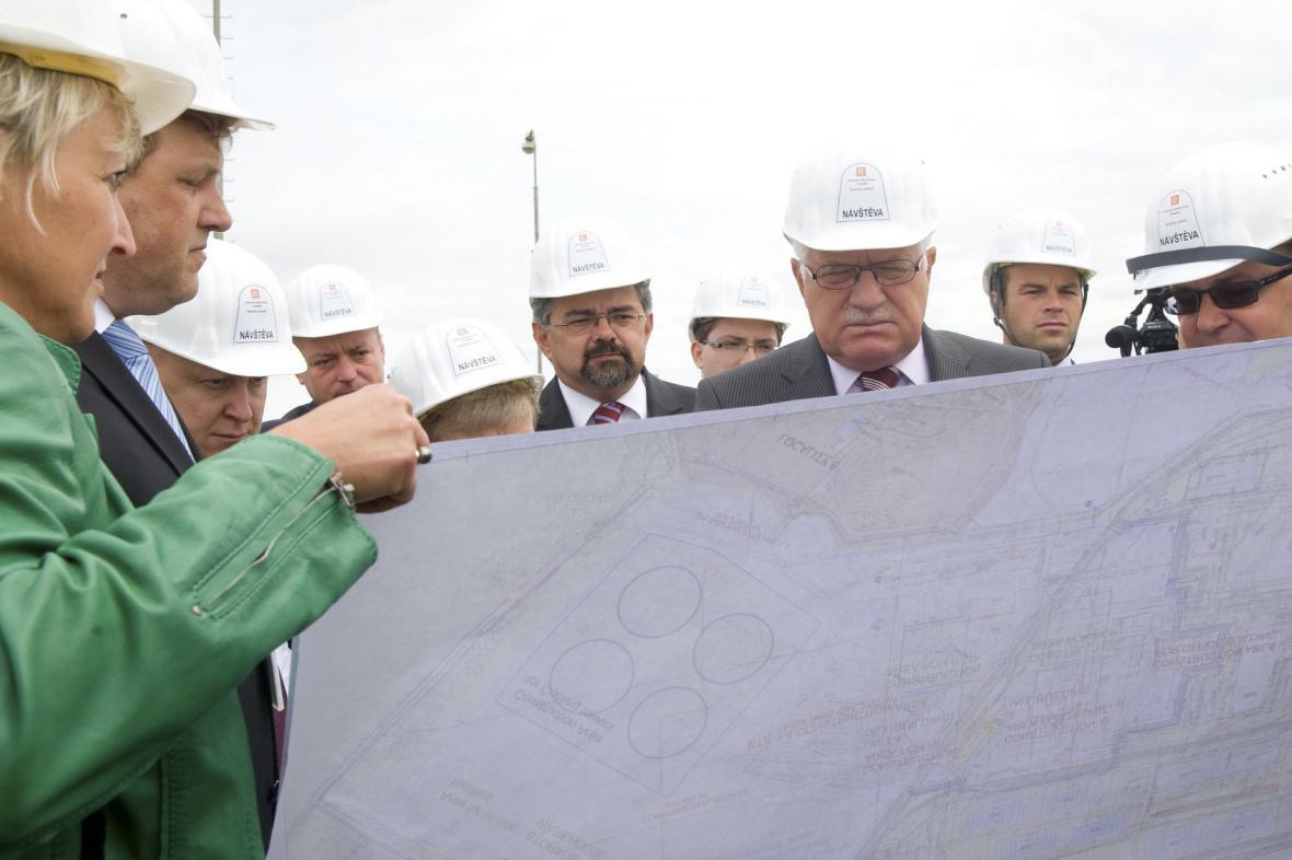 Václav Klaus na návštěvě Temelína