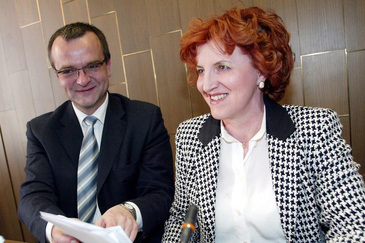 Miroslav Kalousek a Vlasta Parkanová