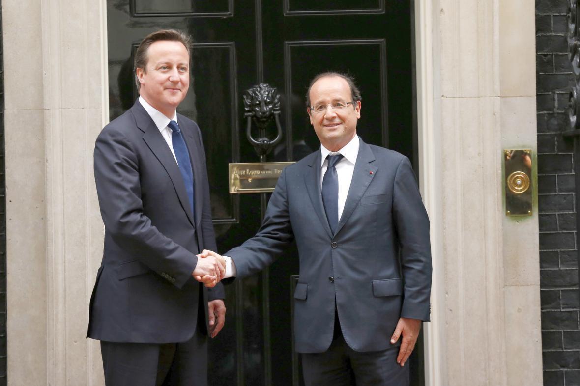 Hollande a Cameron