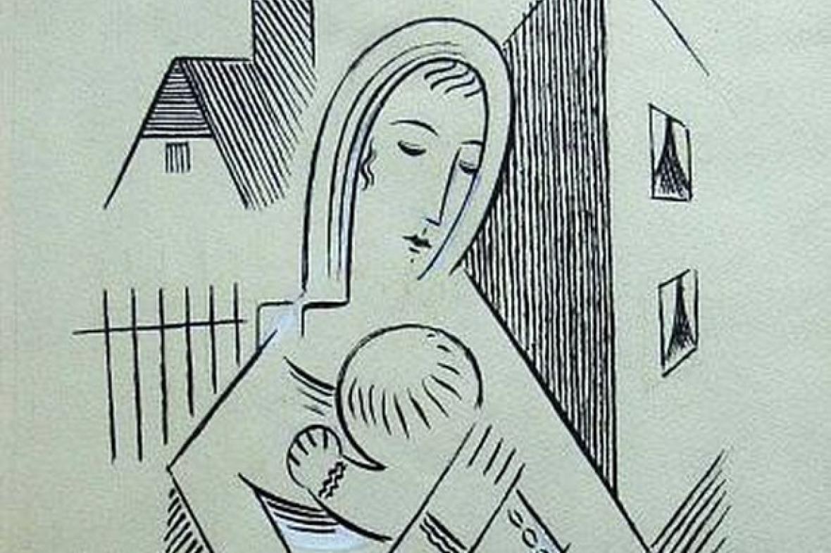 Josef Čapek / Matka s dítětem (výřez)