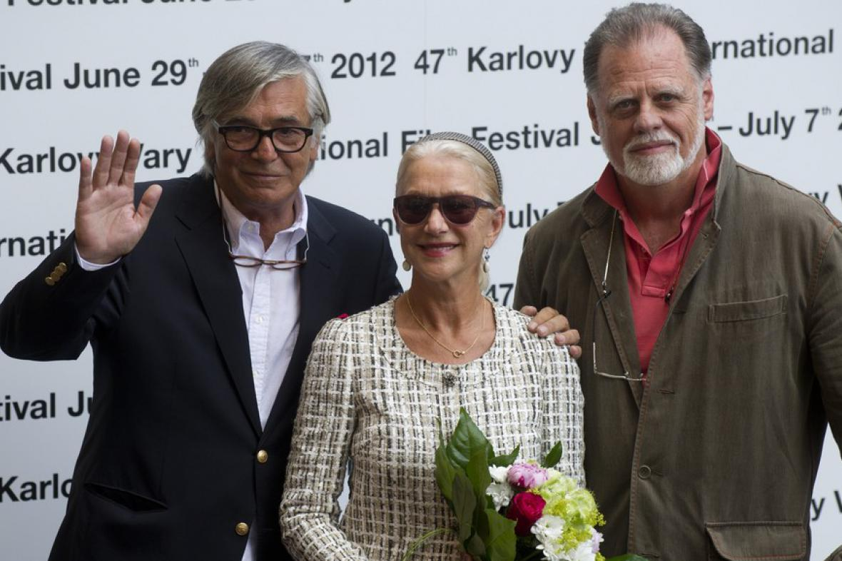 Jiří Bartoška, Helen Mirrenová a její manžel Taylor Hackford