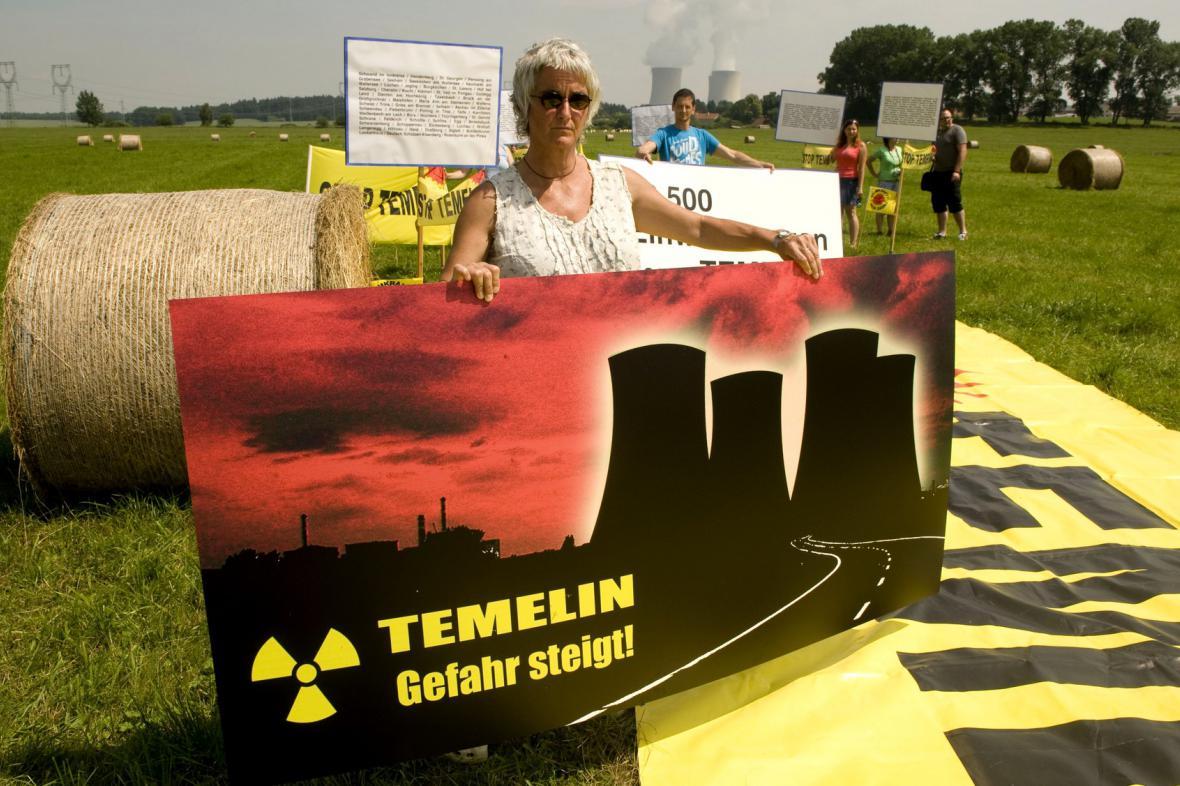 Protest proti Temelínu