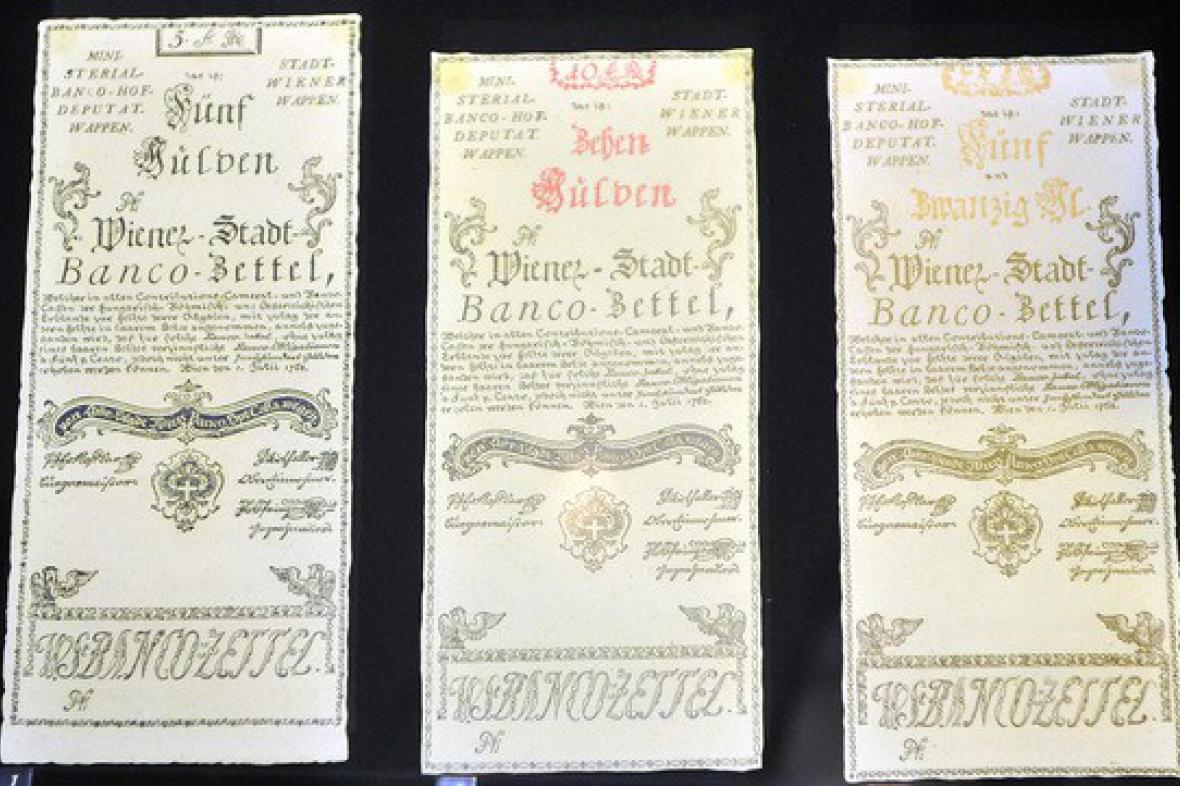 Bankocetle - první bankovky na území dnešních Čech