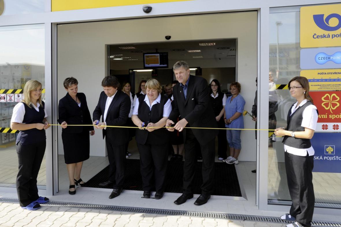 Otevření nové pošty v ústeckém obvodu Neštěmice