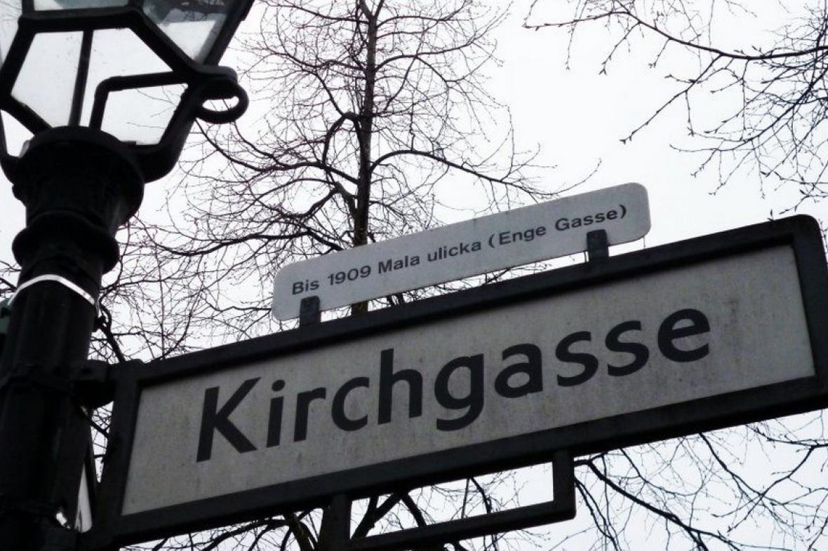 Malá ulička v Berlíně