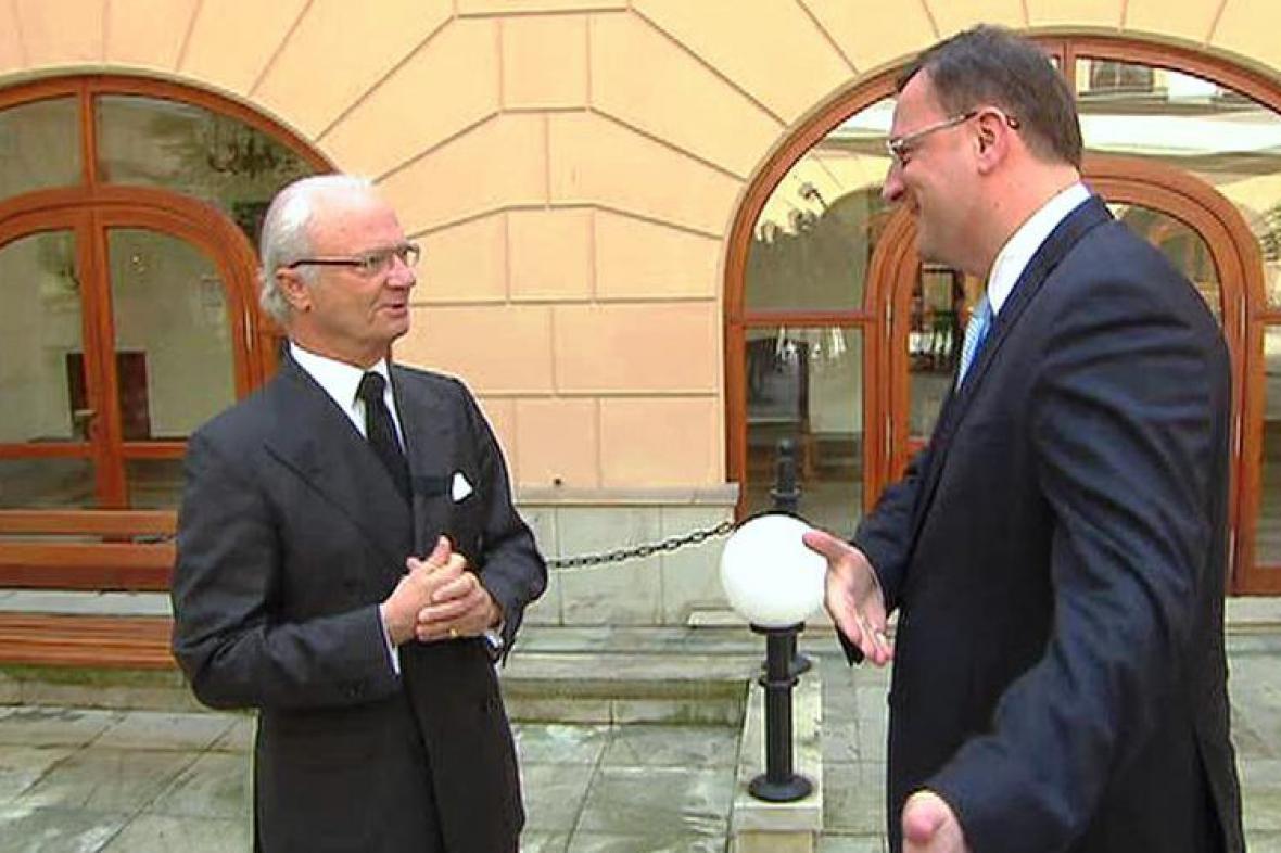 Carl XVI. Gustaf s Petrem Nečasem