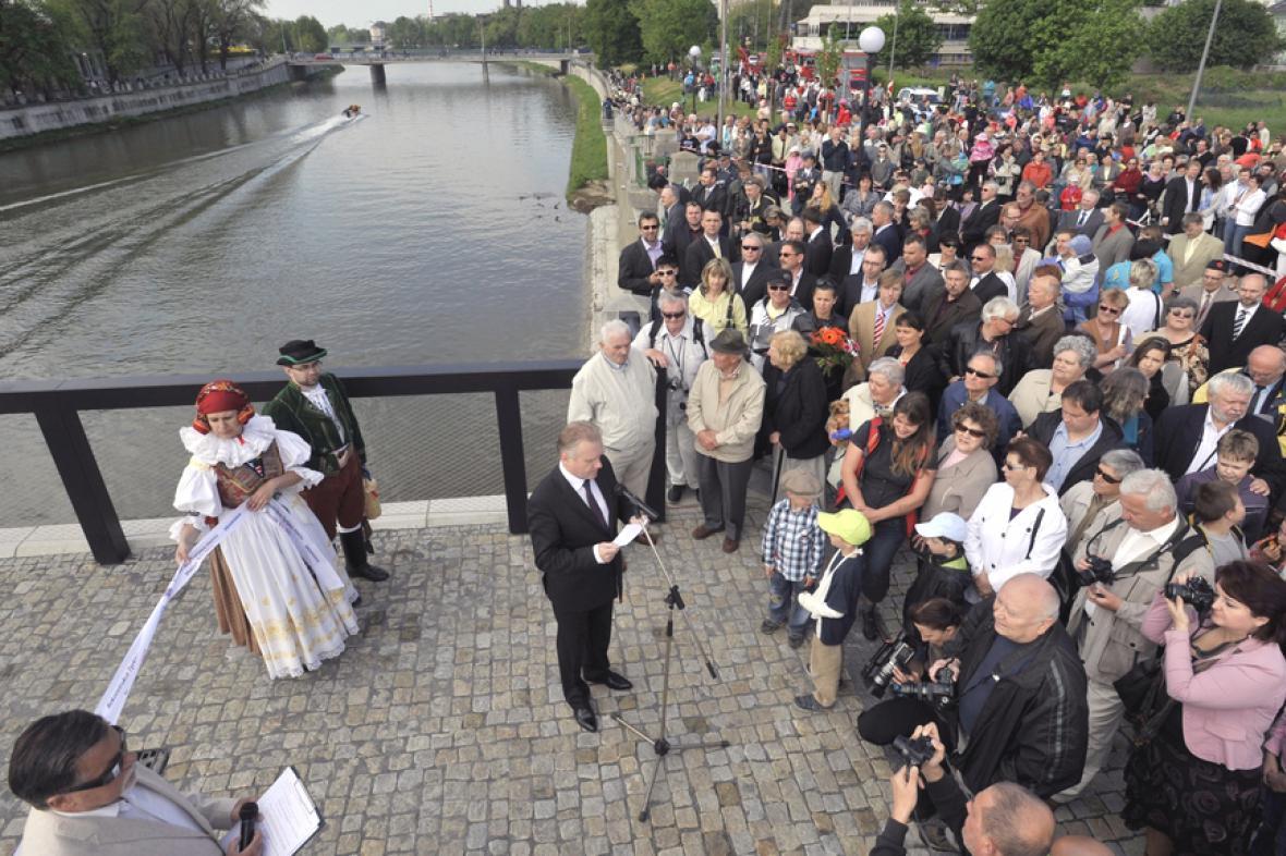 Otevření nového Tyršova mostu v Přerově
