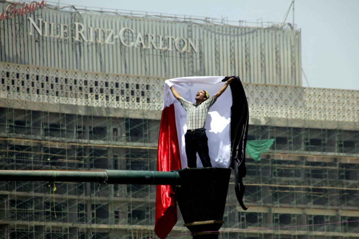 Protestující Egypťan