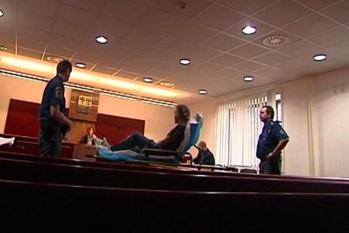 Antonín Stecker u soudu