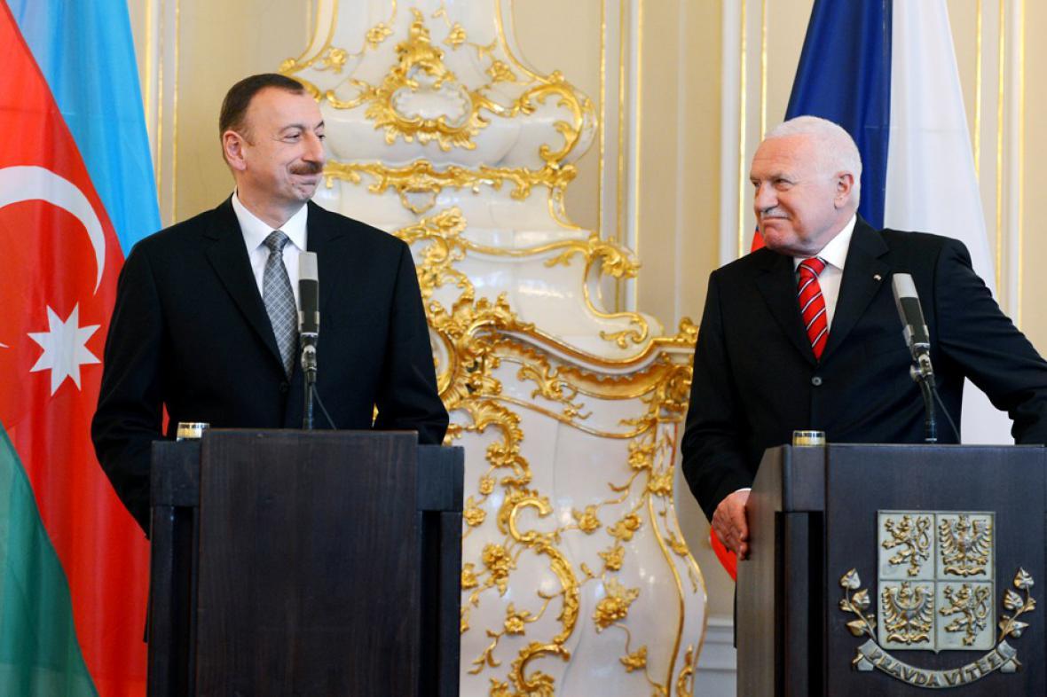 Václav Klaus a Ilham Alijev