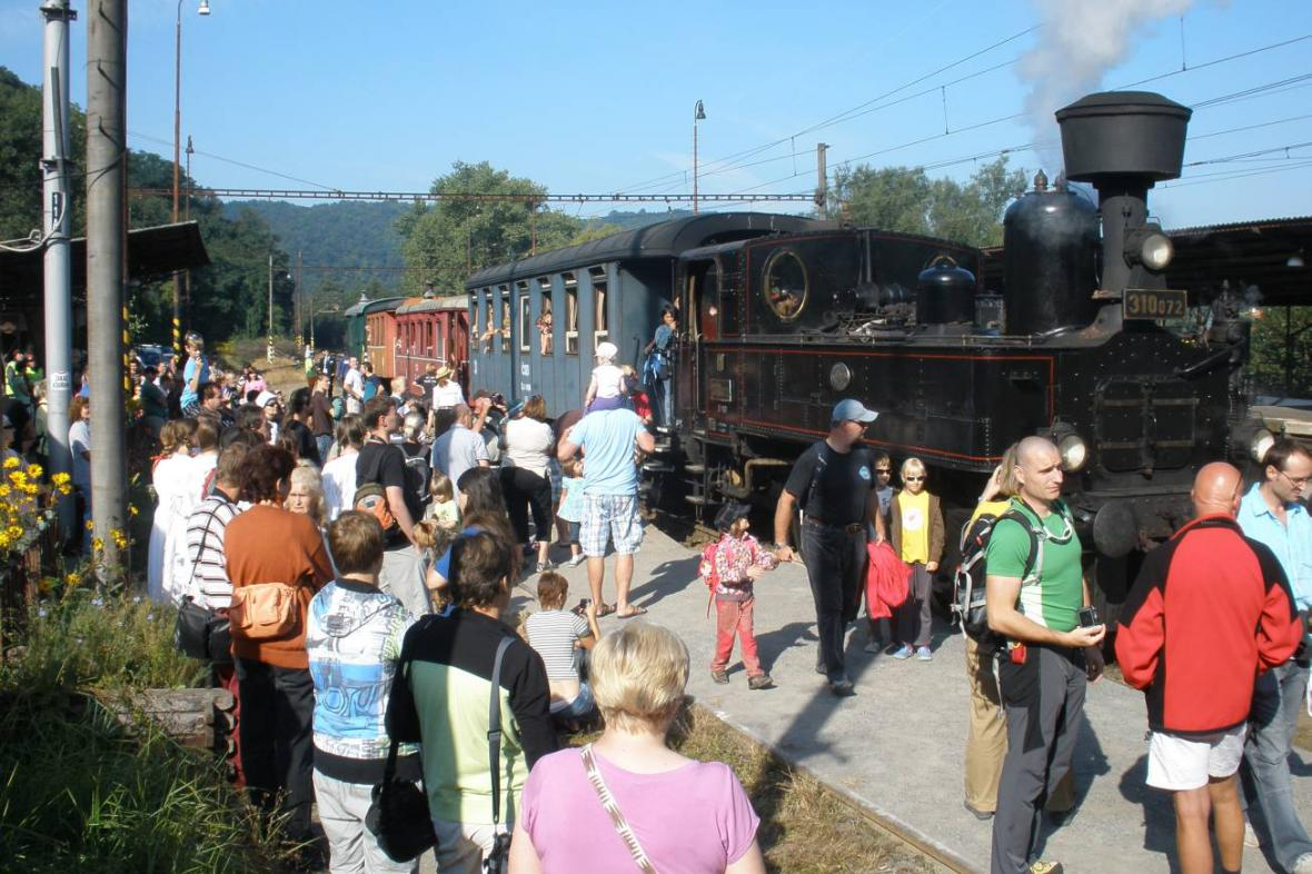 Parní vlak - ilustrační foto