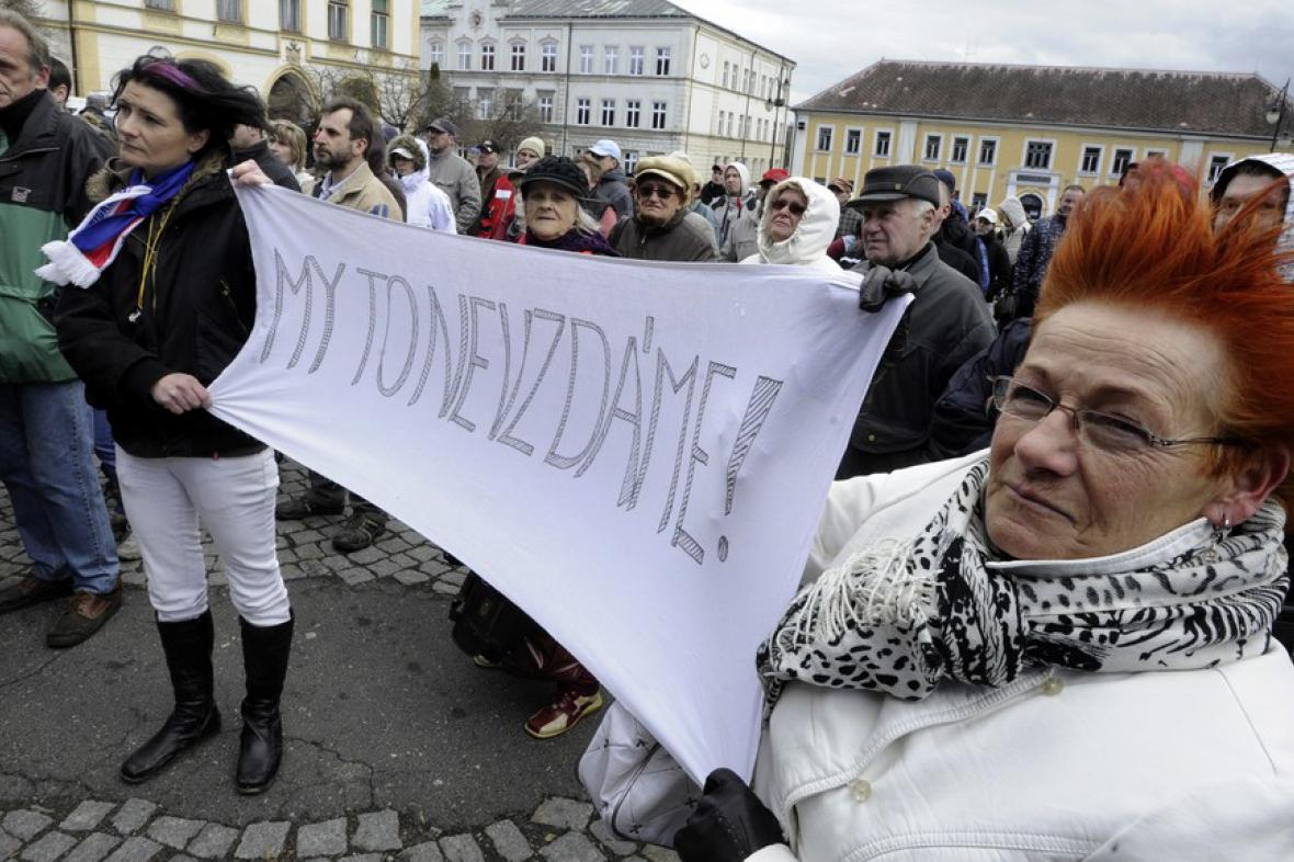 Protest ve Vansdorfu proti vzniku nového ghetta
