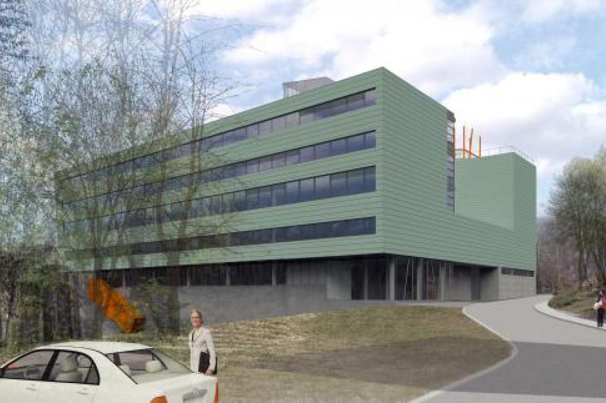 Vizualizace nového komplexu Technické univerzity v Liberci