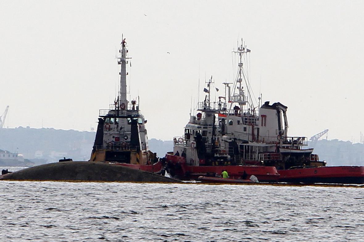 Tanker potopený v řeckých vodách