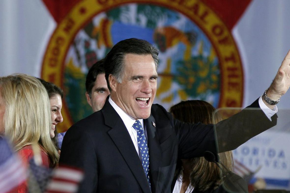 Mitt Romney po vítězství primárek na Floridě