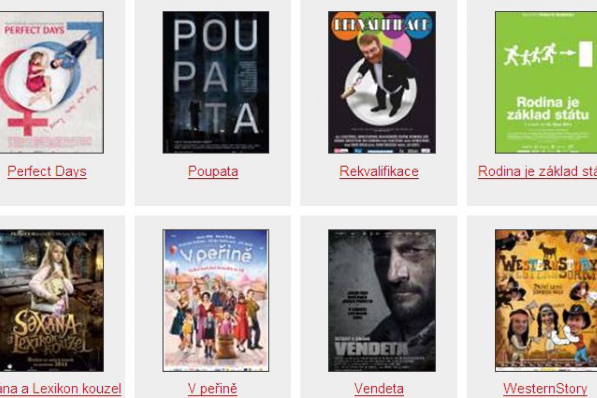 Soutěžící filmové plakáty