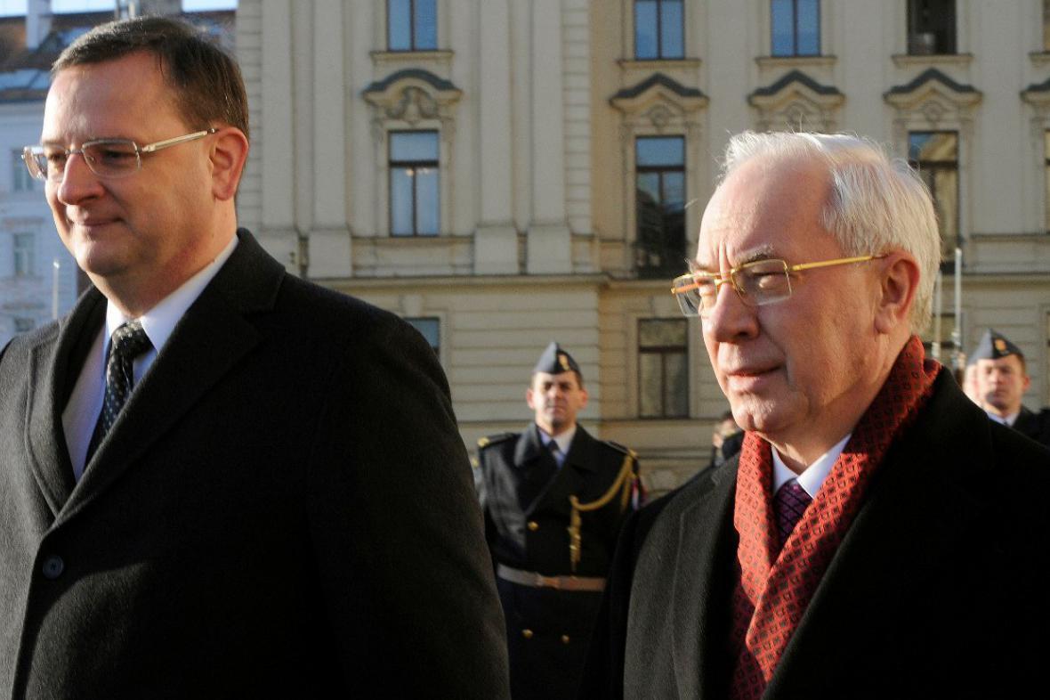 Petr Nečas a Mykola Azarov