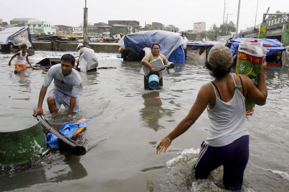 Následky tajfunu ve Filipínách
