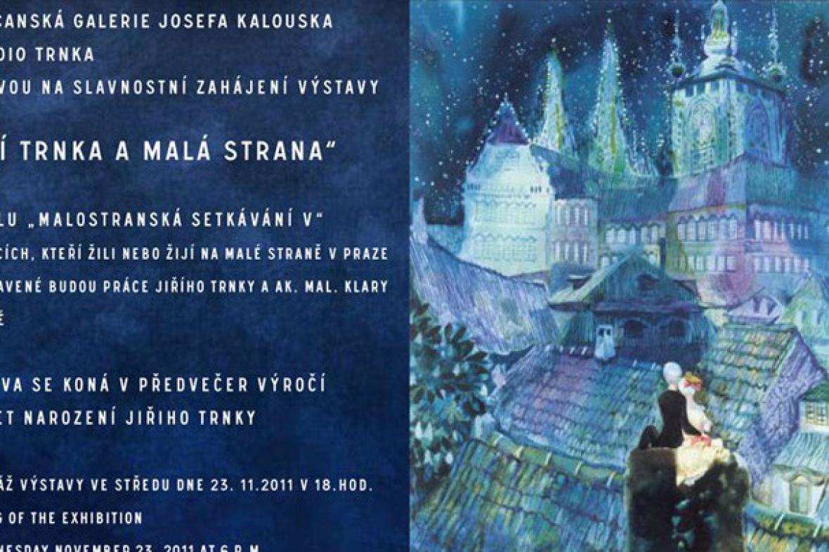 Jiří Trnka a Malá Strana / detail pozvánky