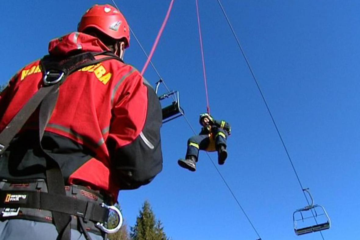 Cvičení hasičského sboru