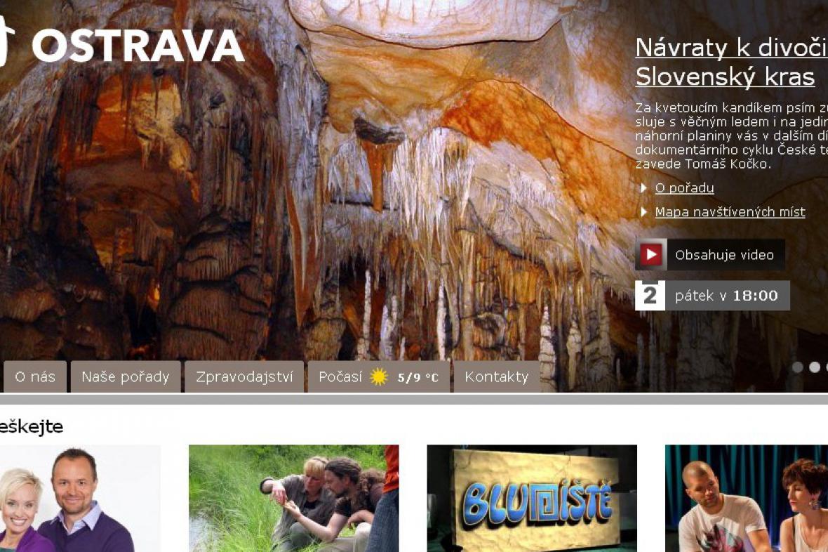 Webové stránky Televizního studia Ostrava