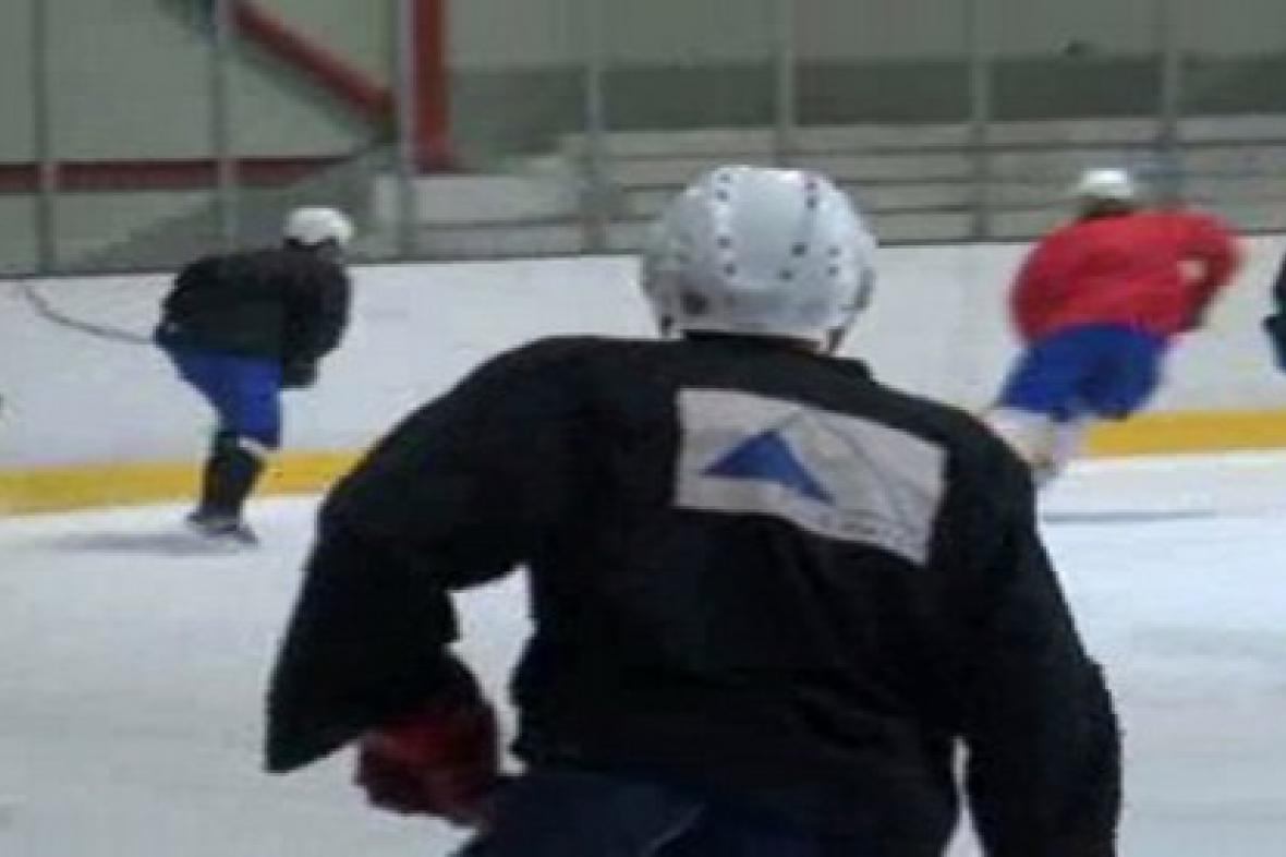 Trénink kolínských hokejistů
