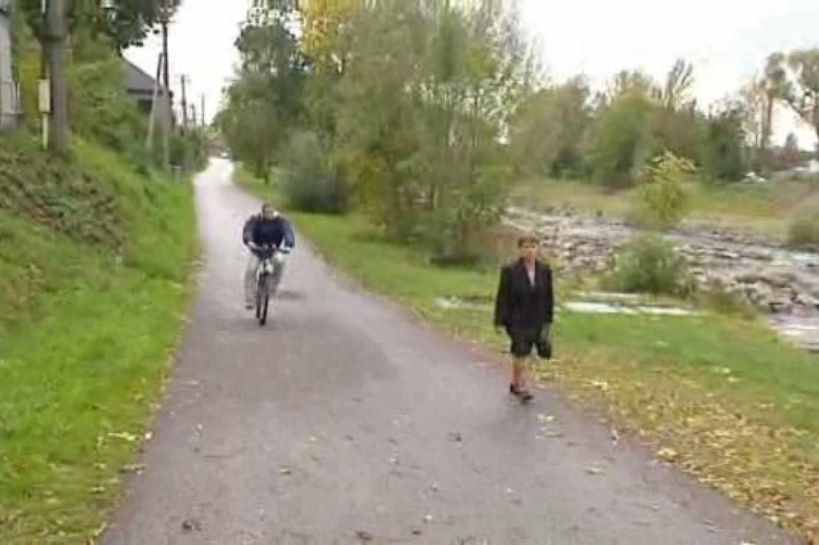 Část cyklostezky z Ostravy do Beskyd