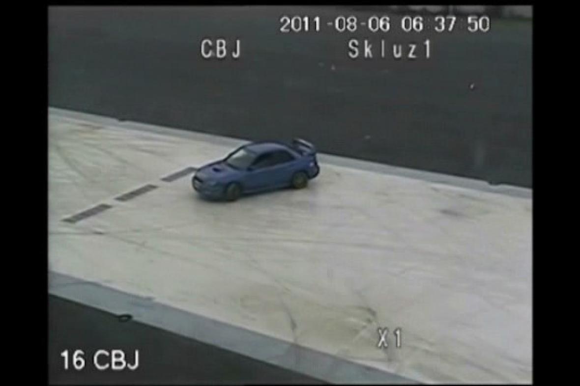 Záběr z kamery v areálu centra