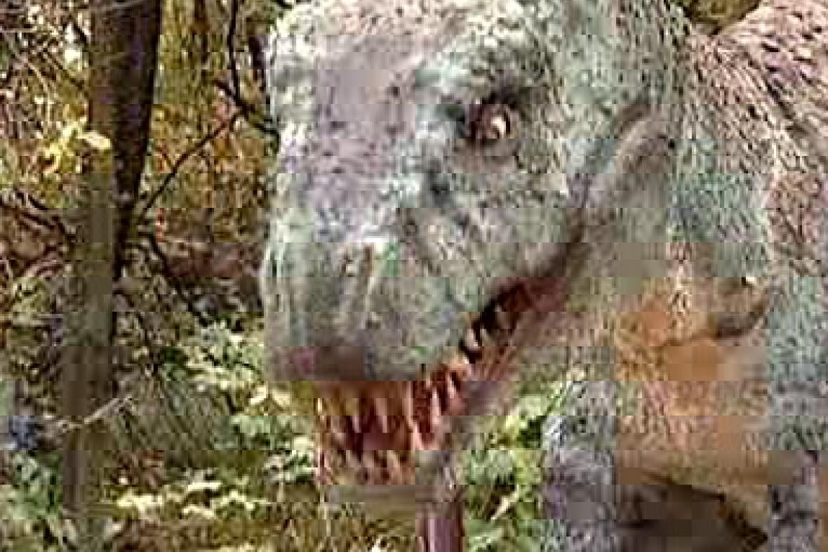 Ještěr z dinoparku