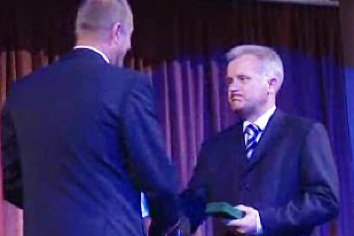 Hejtman Olomouckého kraje získal cenu