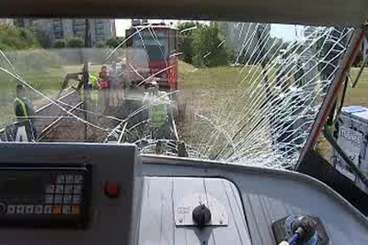Tramvaj po nehodě