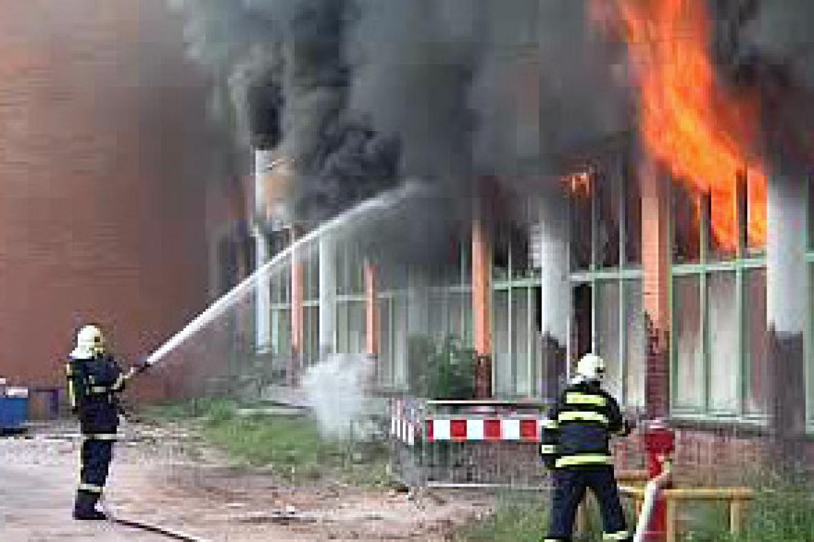 Požár v centru Zlína