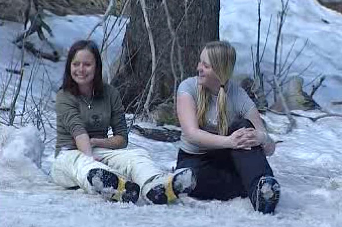 Dívky na sněhu
