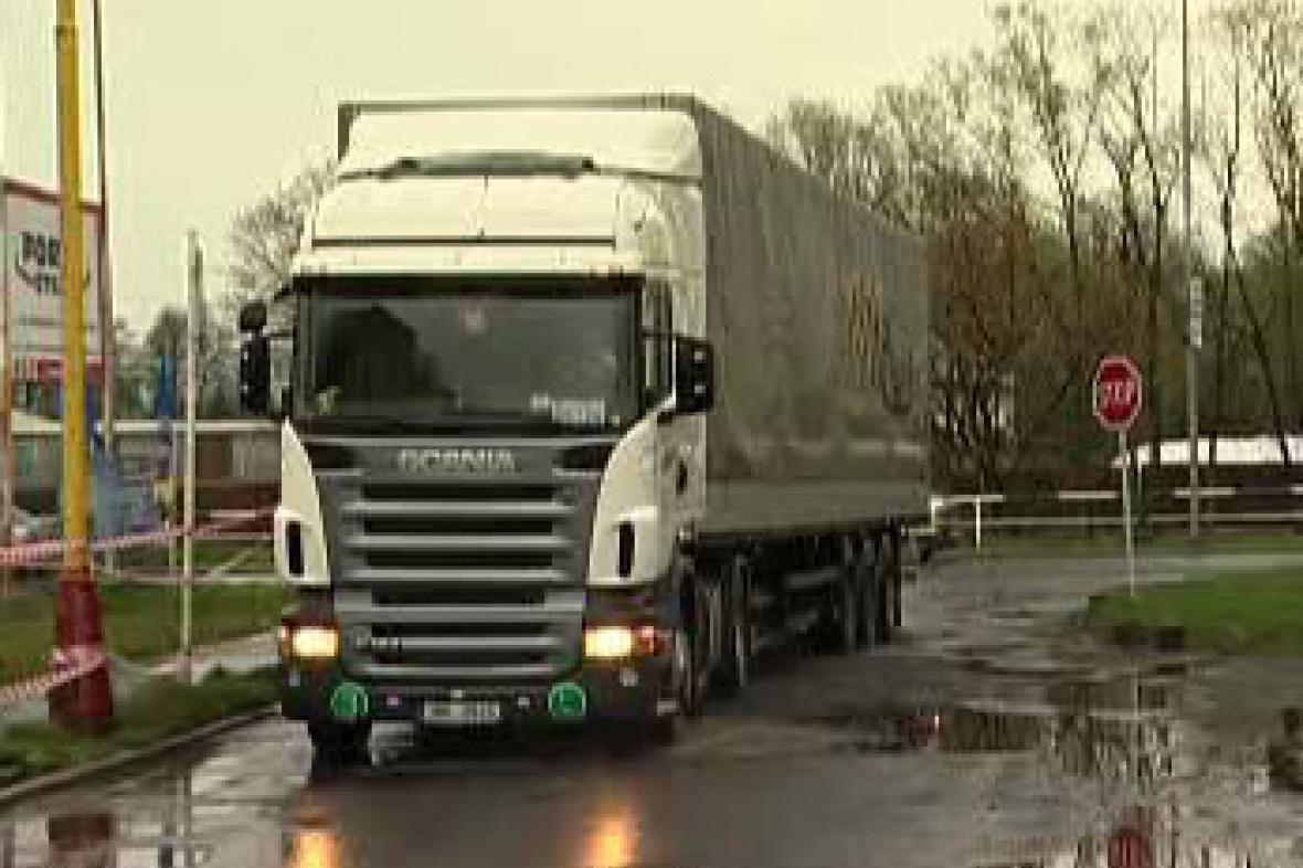 Kamion v Šenově