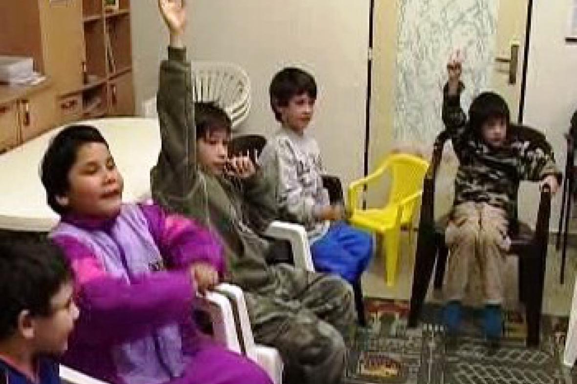 Děti v charitě