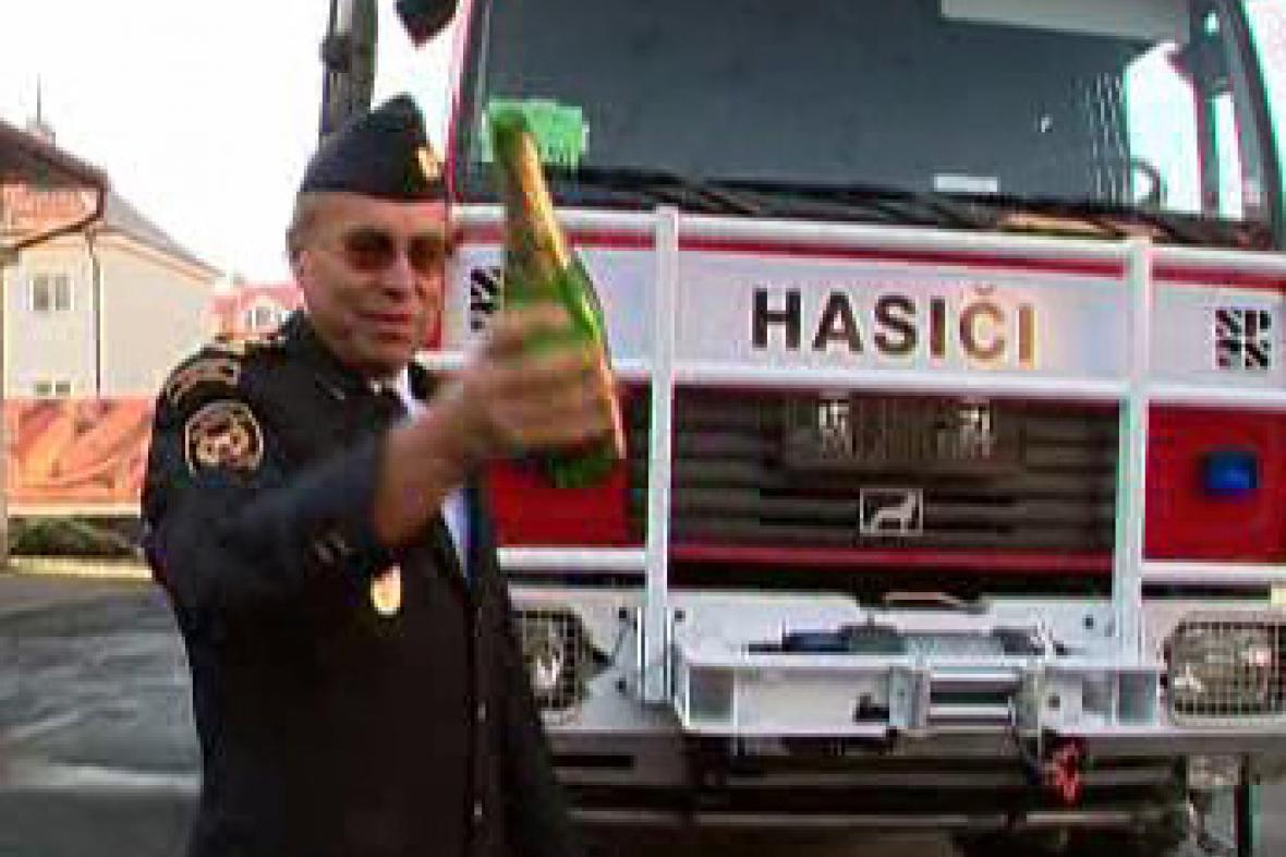 Křest hasičského vozu