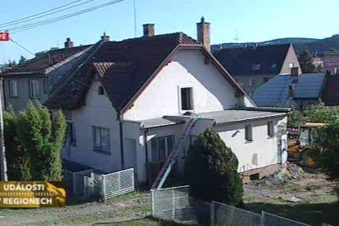 Dům v Letovicích po výbuchu