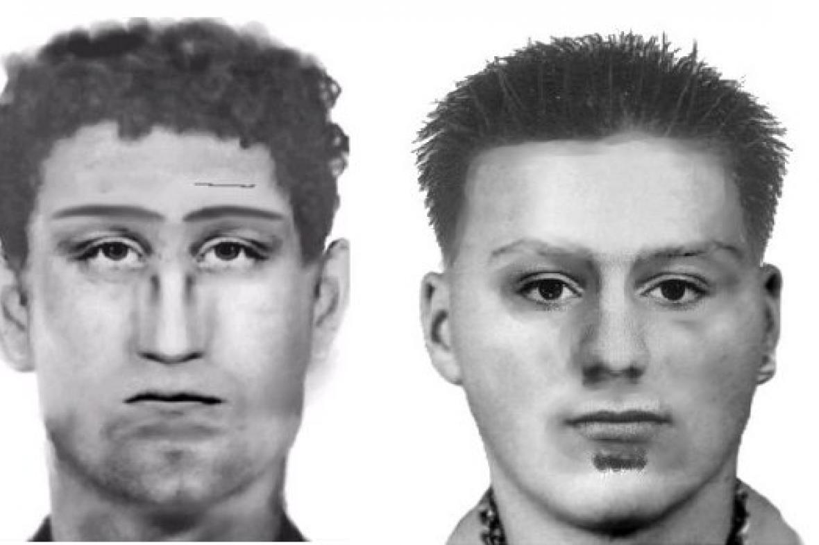 Vpravo: podezřelý z Hodonínska, vlevo: podezřelý z Břeclavska