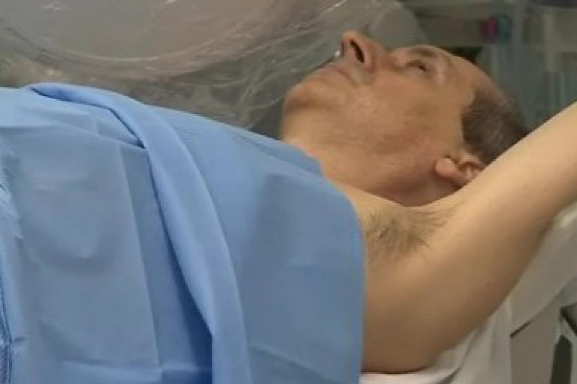 Pacient během zákroku