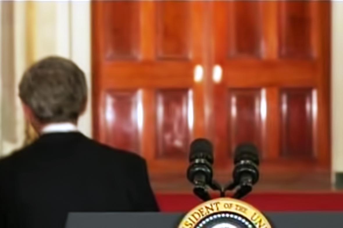 Odcházející prezident George Bush