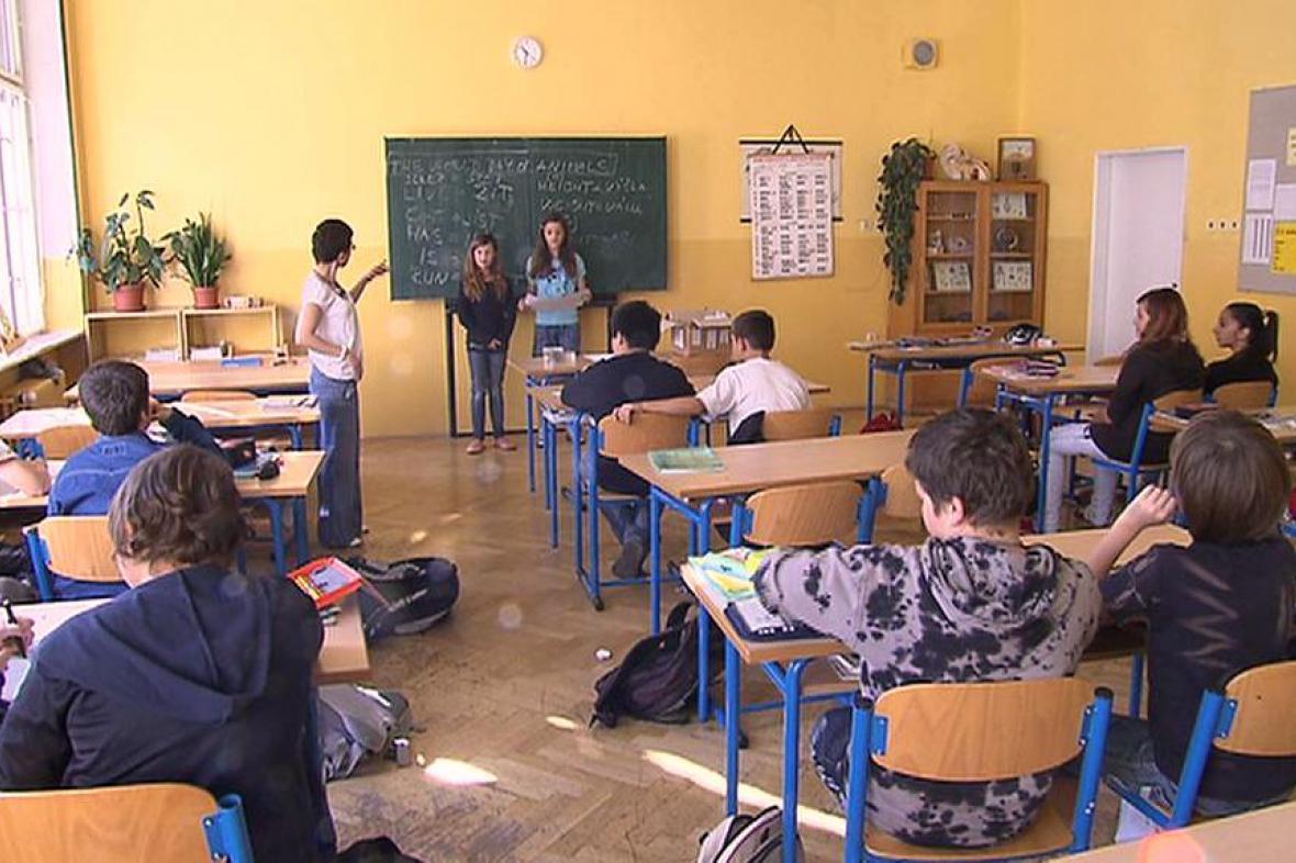 Žáci základní školy Plzeňská