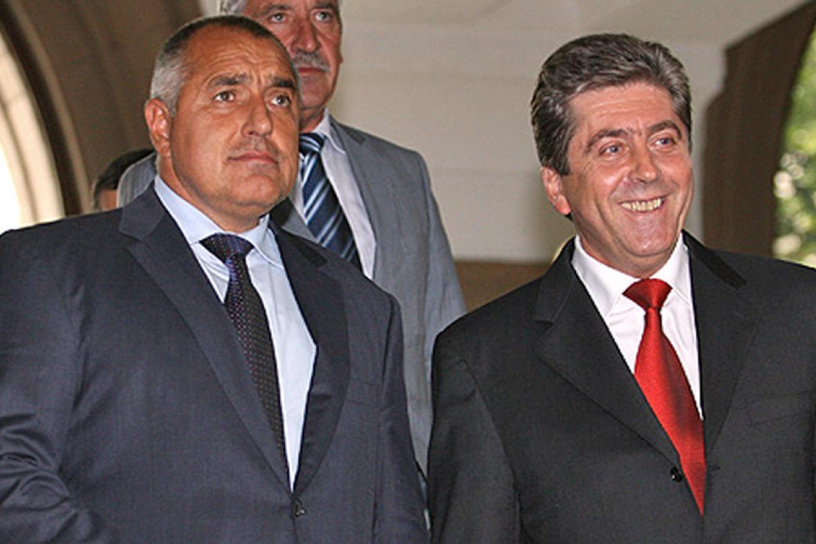 Bojko Borisov (vlevo) a Georgi Parvanov