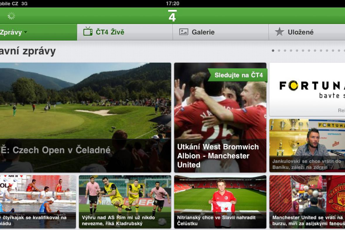 ČT4 na iPadu