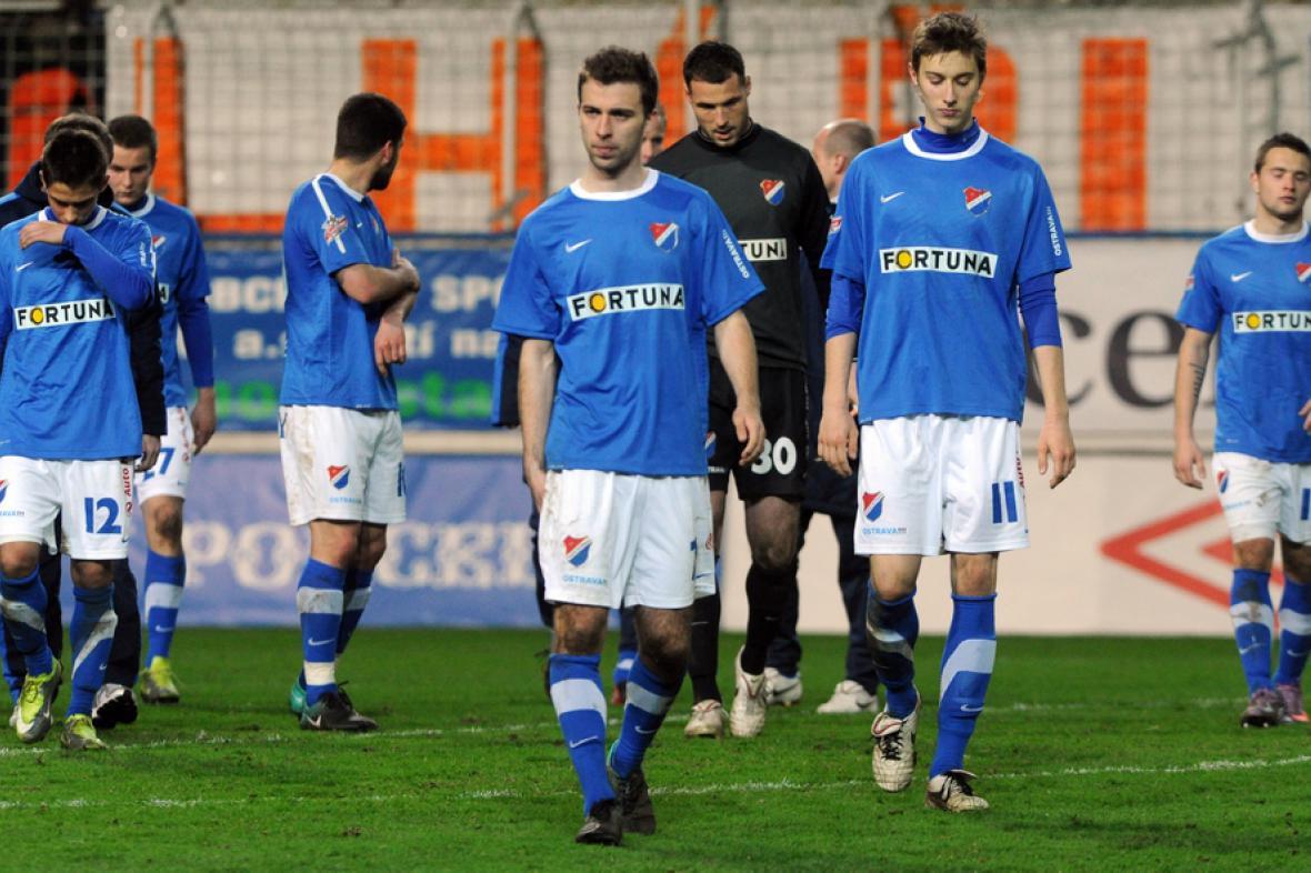 Zklamaní fotbalisté Ostravy