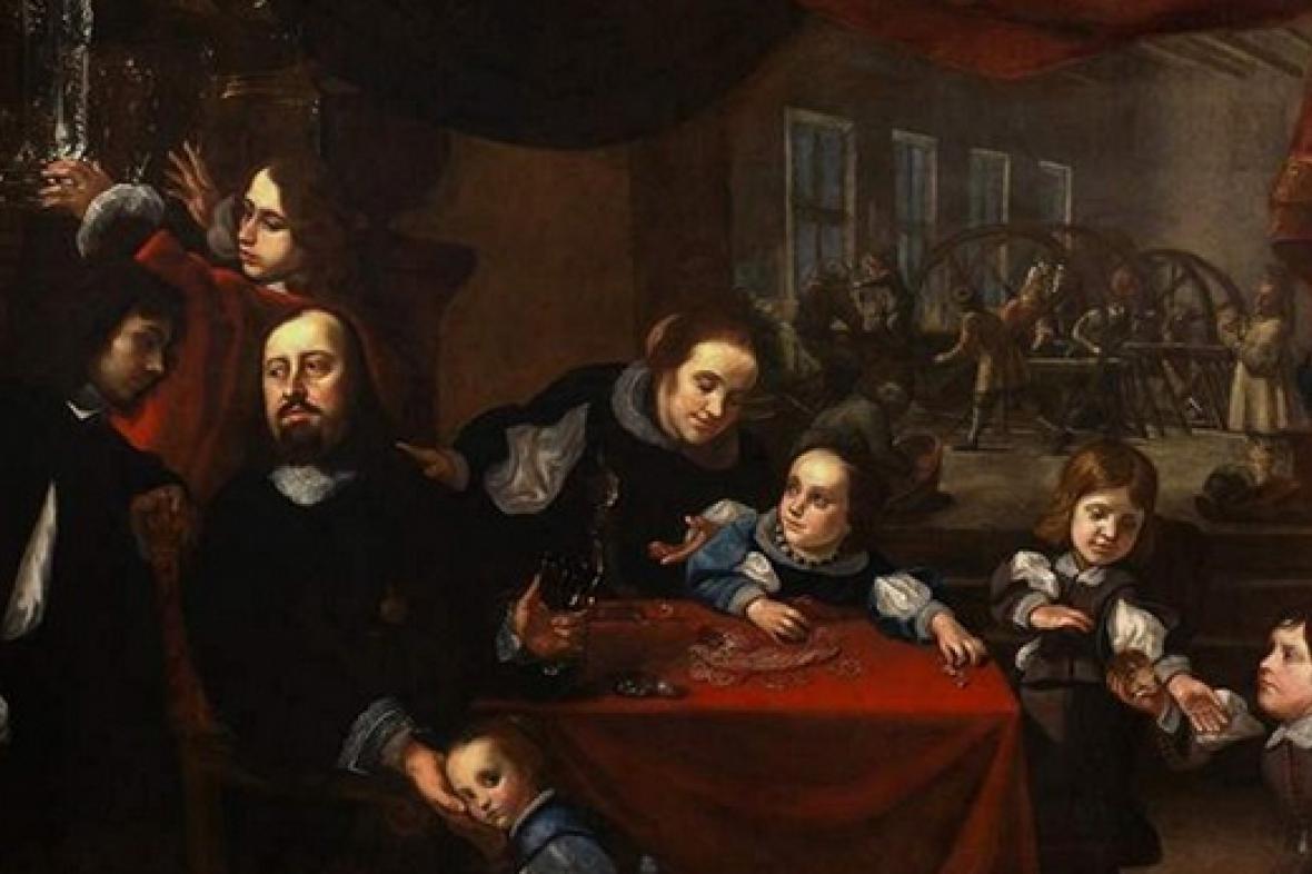 Karel Škréta / Portrét rodiny Dionysia Miseroniho